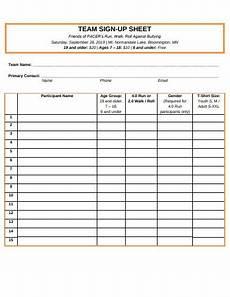Team Sign Up Sheet 15 Sign Up Sheet Templates In Google Docs Google Sheets