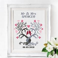 Free Wedding Cross Stitch Patterns Charts Wedding Cross Stitch Pattern Mr And Mrs Personalized Wedding