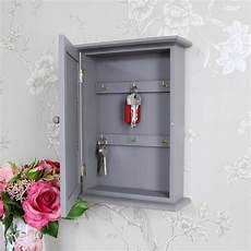 grey wall mounted wooden key cabinet melody maison 174