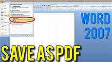 Extension Of Ms Word How To Save A Word Document As Pdf Ms Word 2007 Doc To