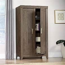 sauder adept fossil oak storage cabinet 418142 the home