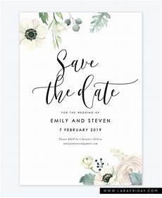 Save The Date Card Design Shania Digital Save The Date Lara Friday Design