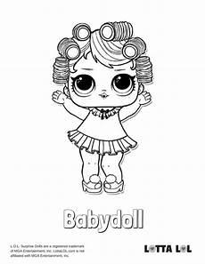 babydoll lol doll coloring page lotta lol