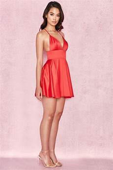 clothing bodycon dresses dahna satin bralet mini