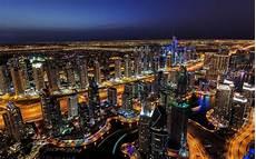 Dubai Night Lights Dubai Night Lights Skyscrapers City Wallpaper Travel
