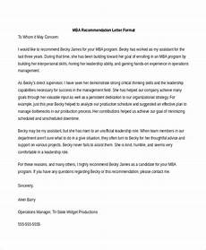 sample letter of recommendation format free 8 recommendation letter samples in ms word pdf