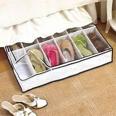 bed shoe storage organizer 12 pairs underbed new ebay