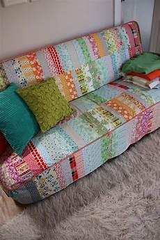 Patchwork Sofa Cover 3d Image by Patchwork Quilted Slipcover What A Great Idea