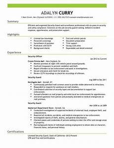 Security Job Resume Best Security Guard Resume Example From Professional