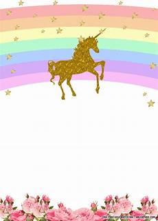 Cute Invitation Templates Free Printable Golden Unicorn Birthday Invitation Template