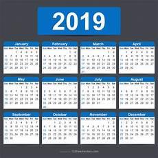 Editable Calander Free Printable 2019 Calendar With Holidays