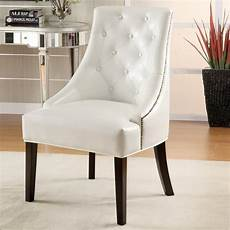 white leather accent chair coaster furniture casual white faux leather accent