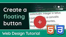 Css3 Design Tutorial Creating A Floating Button With Html5 Amp Css3 Web Design