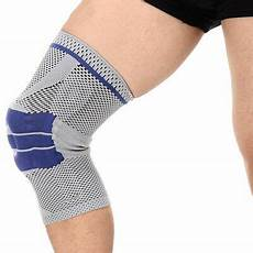 silicon knee sleeve nba sports silicone padded knee support sleeve silicon