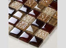 Crystal Glass Tiles Sheet Diamond Mosaic Art Wall Sticker Kitchen Backsplash Tile Design