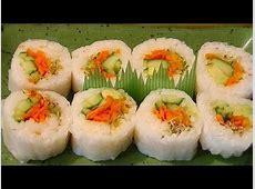 Rice Paper Sushi Roll Recipe   Vegetarian, No Nori. Whole
