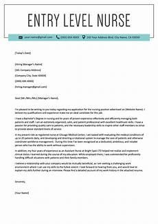 New Graduate Nursing Cover Letter Samples Entry Level Nurse Cover Letter Sample Resume Genius