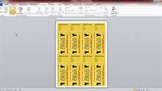 Numbering Tickets In Word Numbering Raffle Tickets In Microsoft Word 2010 Youtube