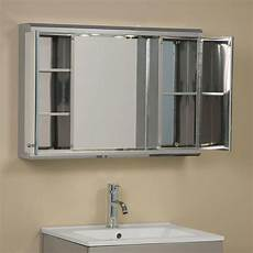 illumine dual stainless steel medicine cabinet with