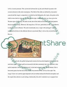 Visual Analysis Paper Visual Analysis Paper Coursework Example Topics And Well