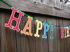Colorful Happy Birthday Banner Happy Birthday Banner Large Letters Birthday Banner Colorful