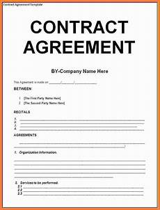 Contract Templates 8 Contract Agreement Template Marital Settlements