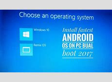 How to install Android OS on pc Dual boot   YouTube