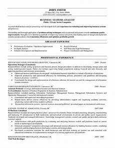 Business System Analyst Resume Business Or Systems Analyst Resume