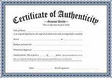Authentication Certificate Format Free Printable Certificate Authenticity Templates How To