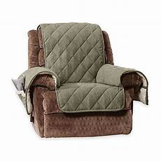 sure fit 174 reversible flannel and sherpa recliner cover