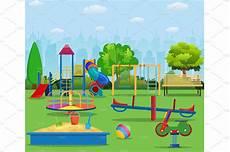 Playground Templates Kids Playground Cartoon Concept Background