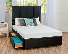 2ft6 small single or 3ft single faux leather divan bed