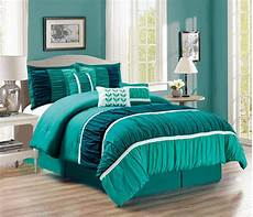 11 ruched teal green bed in a bag set