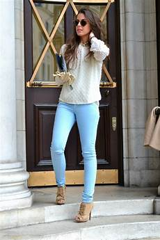 What To Wear With Light Blue Jeans 35 Best Images About How To Wear Light Blue Jeans On