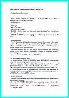 Graduate School Resume Objective Cool Sample Of College Graduate Resume With No Experience