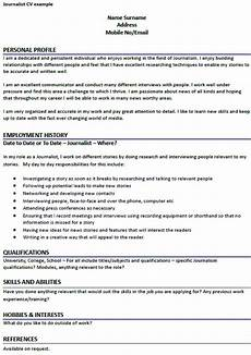 Journalism Cv Example Journalist Cv Example Learnist Org