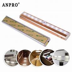 anpro led cabinet light wireless pir motion sensor