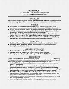Quality Engineer Resume Samples Quality Engineer Resume Sample Pdf Resume Template