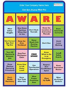 Office Meeting Topics Image Safety Bingo Thumb Jpg Workplace Safety Health