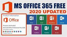 Download Latest Microsoft Office Free How To Download Microsoft Office 365 Free 2020 Latest Pro Plus
