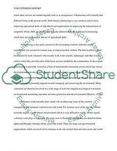 Volunteering At A Hospital Essay The Concept Of Volunteering Essay Example Topics And