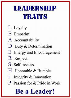 A List Of Characteristics Leadership Traits Poster Crossword Puzzle Leadership