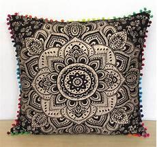 details about large 24 quot black gold cushion pillow cover