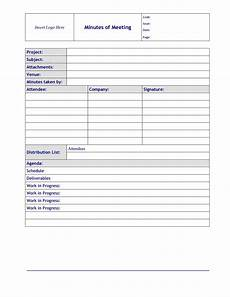 Minutes Templates 26 Handy Meeting Minutes Amp Meeting Notes Templates