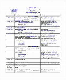 Travel Itinerary Samples 9 Travel Itinerary Templates Free Word Pdf Format
