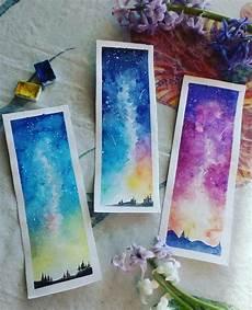 watercolor bookmarks zeichnen bookmarks