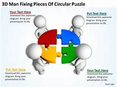 Ppt Clipart Free 3d Man Fixing Pieces Of Circular Puzzle Ppt Graphics Icons