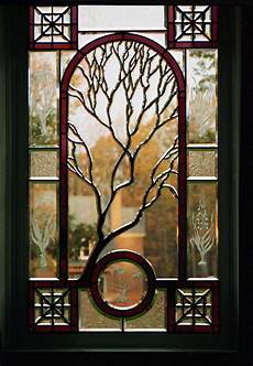 Art Deco Stained Glass Window Designs Sculpted Solder Tree Beveled Glass Window Cain