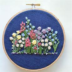 embroidery pattern flower embroidery hoop pattern