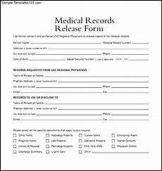 Generic Release Of Medical Information Form Generic Medical Records Release Form Medical Records